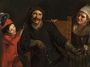 Pietro Paolini – Retrato de Tiberio Fiorilli, caracterizado como Scaramouche (S. XVII)