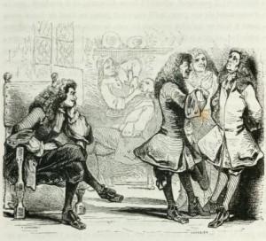 Charles-Augustin Sainte-Beuve – Molière, ilustración de Tony Johannot (1835)