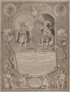 Saint Julien et Saint Genest, grabado de 1766