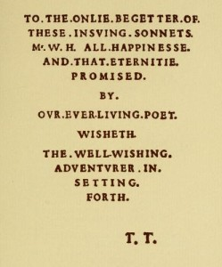 Shakspere's Sonnets : the first quarto, 1609, a facsimile in photo-lithography (1886)