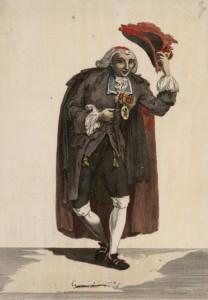 Juan de la Cruz Cano y Olmedilla, Miguel Copin - Retrato del célebre y gracioso Aldovera, «El Duende» (1788)