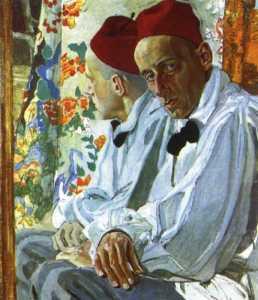 Aleksandr Golovin – Retrato de Vsevolod Meyerhold (1917)