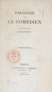 Denis Diderot – Paradoxe sur le comédien (1830)