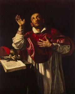 Orazio Borgianni - Retrato de San Carlos Borromeo (161?)