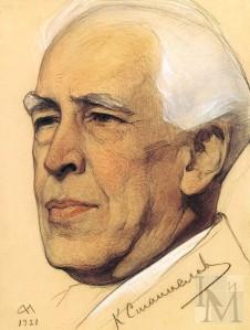 Konstantín Stanislavski , por Nikolay Andreyev (S. XX)