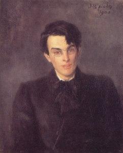 William Butler Yeats, retratado por su padre John Butler Yeats (1900)