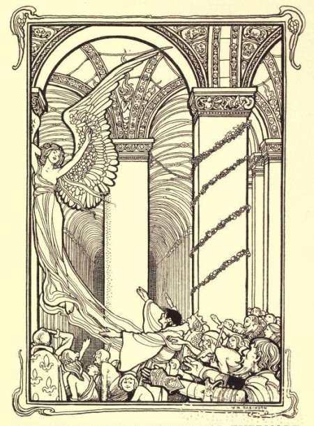 Edgar Allan Poe - The Conqueror Worm, ilustración de Heath Robinson (1900)