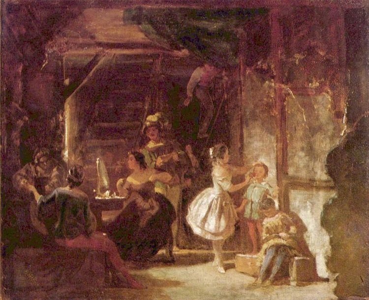 Carl Spitzweg - Detrás de la escena (185?)