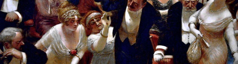 Albert Guillaume - Les Retardataires (1914)