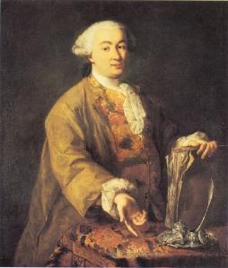 Alessandro Longhi – Retrato de Carlo Goldoni (ca. 1750)