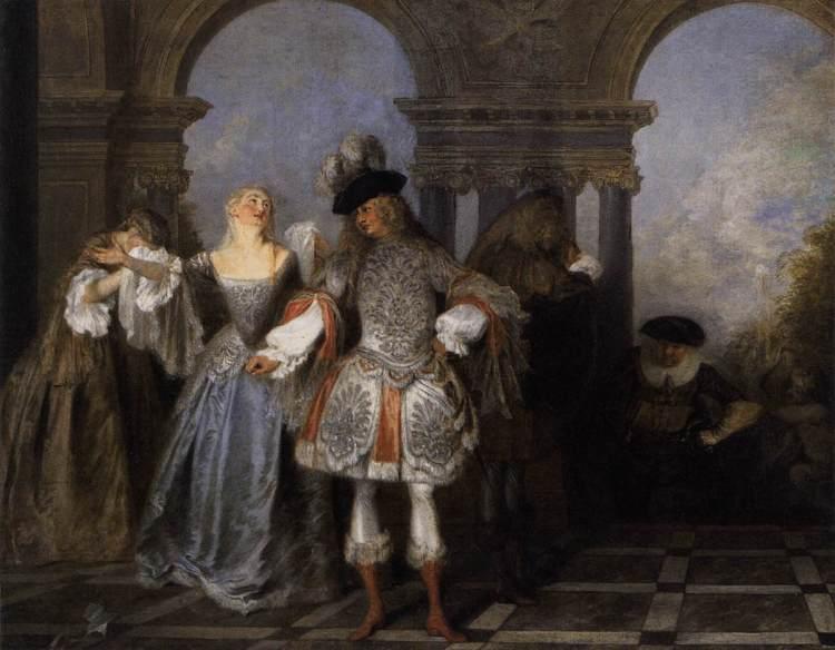 Antoine Watteau - Les Acteurs de la Comédie-française (ca. 1720)