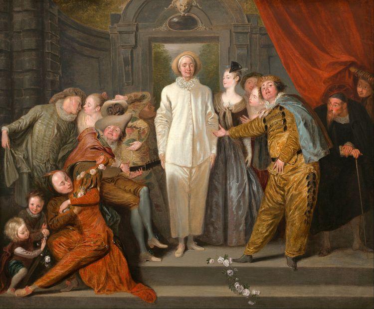 Antoine Watteau - Les Comédiens italiens (ca. 1720)