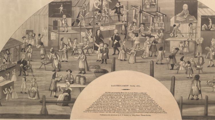 Isaac Fawkes, Charles Benjamin Incledon - Bartholomew Fair (1721)