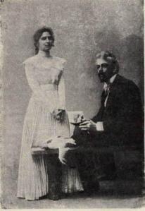 Maria Roksanova y Konstantín Stanislavski en «La Gaviota», 1898