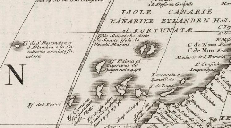 Mapa de África de Vincenzo Coronelli (detalle, 1693)