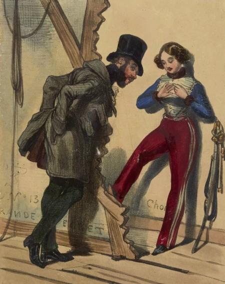Gavarni – Les Coulisses (1840)