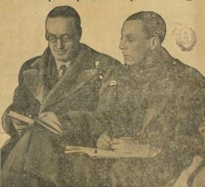Jean Giraudoux y Louis Jouvet durante un ensayo de « Électre »