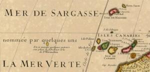 Mapa de África, de Guillaume Delisle (detalle, 1707)
