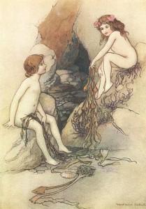 Charles Kingsley - The Water-Babies, ilustración de Warwick Globe (1922)