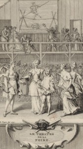 Bernard Picart – Frontiscipio para «Le Théâtre de la Foire», serie de volúmenes en los que se publicaron las comedias de Lesage y d'Orneval (1730)