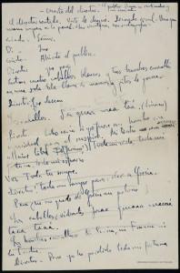 Federico García Lorca – El Público, manuscrito autógrafo (1930)