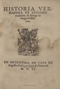 Luciano de Samosata - Historia verdadera (1551)