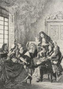 Molière – La Critique de L'École des femmes, ilustración de Adolphe Lalauze (S. XIX)