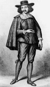 Eustache Lorsay - Molière caracterizado como Arnolphe en «La Escuela de las mujeres» (S. XIX)