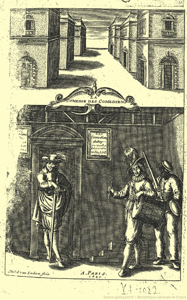 Georges de Scudéry – La Comédie des comédiens, ilustración de Michel van Lochom(1635)
