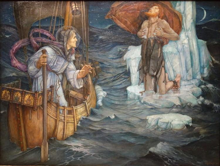 Edward Reginald Frampton - El Viaje de San Brandan (1908)