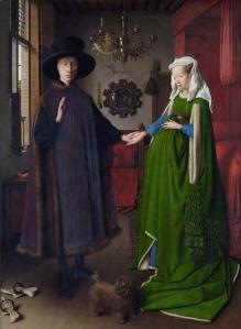 Jan van Eyck - Retrato de Giovanni Arnolfini y su esposa (1434)