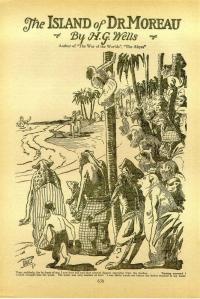 Herbert George Wells - The Island of Dr. Moreau, publicación en la revista «Amazing Stories» (1926)