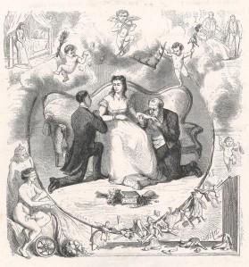Pierre-Jean de Béranger – Les Marionnettes, ilustración de Claverie (18?)