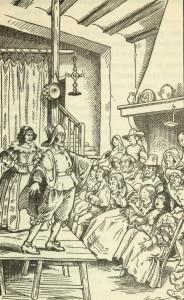 Miguel de Cervantes – El Retablo de las maravillas, ilustración de F. Marco (1922)