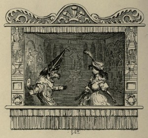 John Payne Collier – Punch and Judy, ilustración de George Cruikshank (1870)