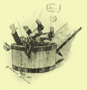 Arthur Conan Doyle - The Great Keinplatz Experiment, ilustración de Louis Bailly (1914)