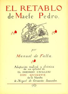 Manuel de Falla – El Retablo de Maese Pedro (1923)