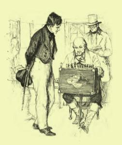 Nathaniel Hawthorne – The Seven Vagabonds, ilustración de Helen Mason Grose (1916)