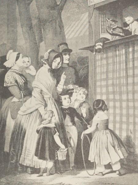 Jules David – La Comédie du chat : devant la toile (1850)