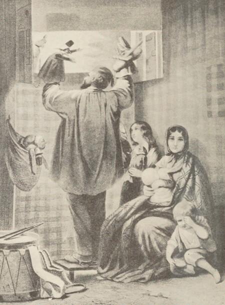 Jules David – La Comédie du chat : derrière la toile (1850)