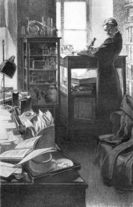 Maurice Renard - Le Professeur Krantz, ilustración de Louis Pouzargues (1932)
