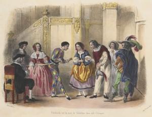 Jules Rostaing – La Jeunesse des marionnettes, ilustración de Henry Télory (1858)