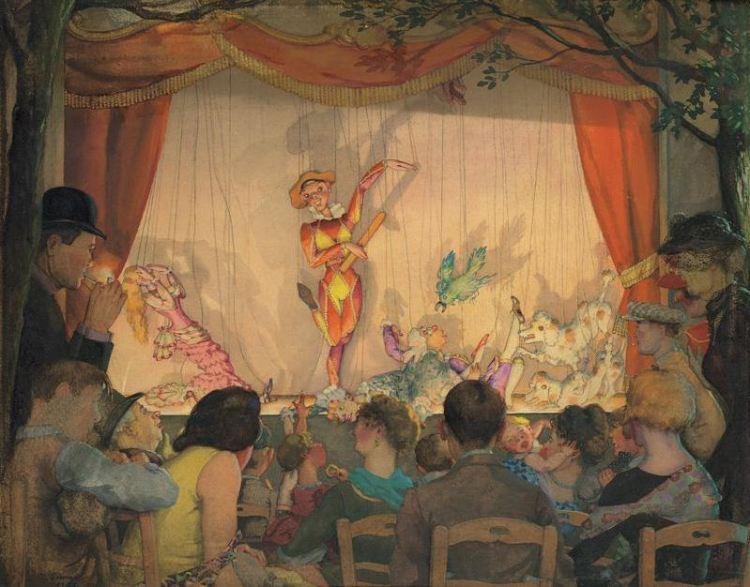 Konstantín Sómov – El Teatro de marionetas (ca. 1931)