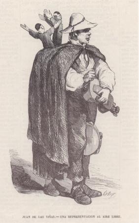 Francisco Ortego – El titiritero Juan de las Viñas (ca. 1860)