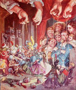 Miguel de Cervantes - El ingenioso hidalgo D. Quijote de la mancha, acuarela de Salvador Tusell, sacada de la composición de Gustave Doré (1894)
