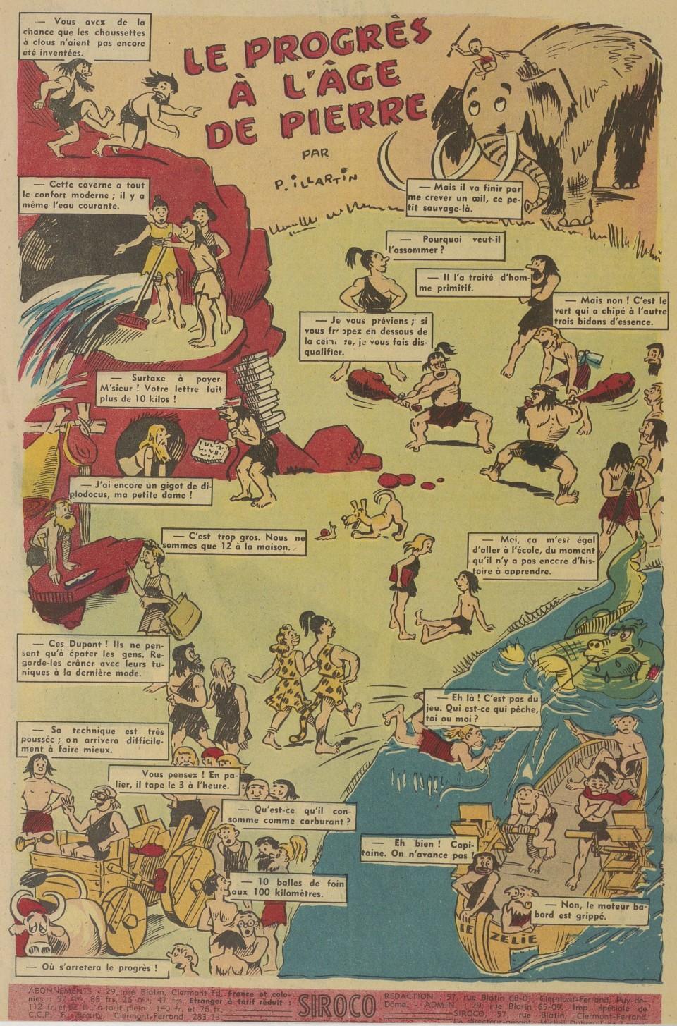 P. Illartin - Le Progrès à l'âge de pierre (1943)