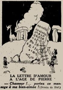 Mat - La Lettre d'amour à l'âge de pierre (1931)