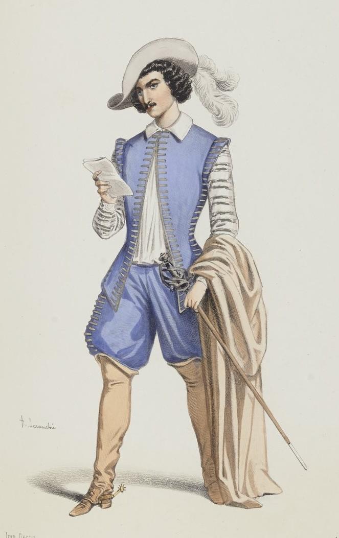 Étienne Mélingue interpretando a D'Artagnan (1849)