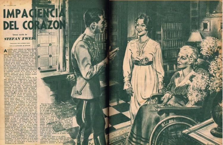 Stefan Zweig – La Impaciencia del corazón (publicación en la revista argentina «Leoplán», 1948)