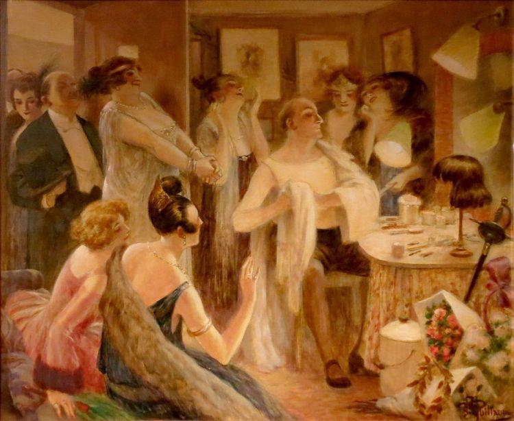 Albert Guillaume – Las Admiradoras (Lucien Guitry en su camerino) (1922)